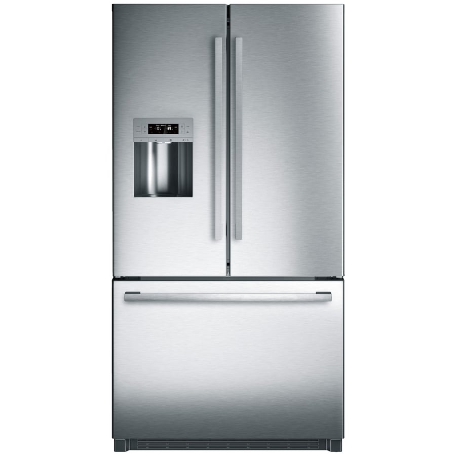 Bosch 800 Series 25.5-cu ft French Door Refrigerator with Ice Maker (Stainless Steel)