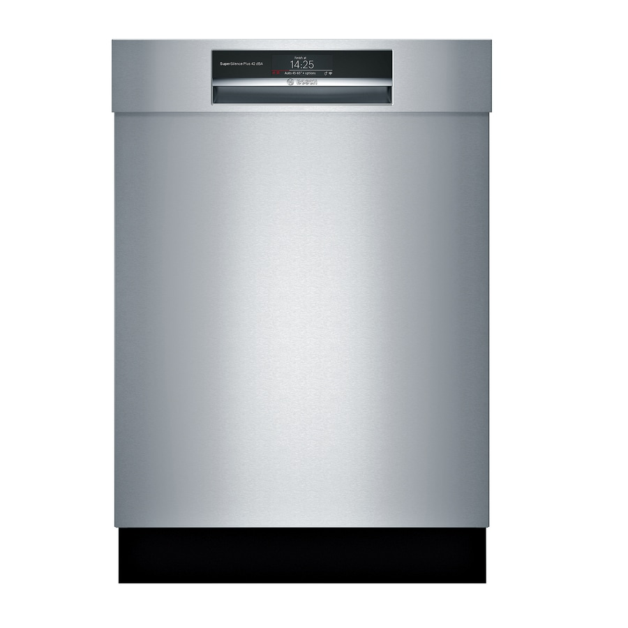 shop bosch home connect 800 series 42 decibel built in dishwasher stainless steel common 24. Black Bedroom Furniture Sets. Home Design Ideas