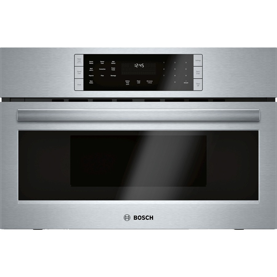 Bosch 800 Series 1.6-cu ft Built-in Speed Cook Convection Microwave with Sensor Cooking Controls (Stainless Steel)