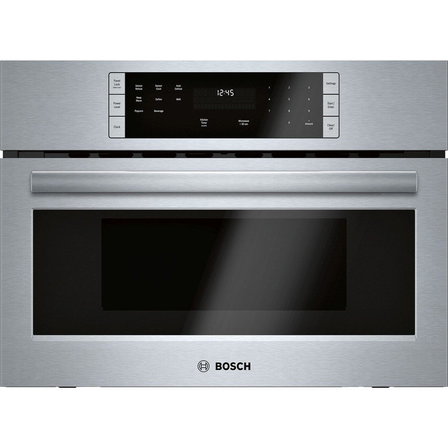 Bosch 500 Series 1.6-cu ft Built-in Microwave with Sensor Cooking Controls (Stainless Steel)