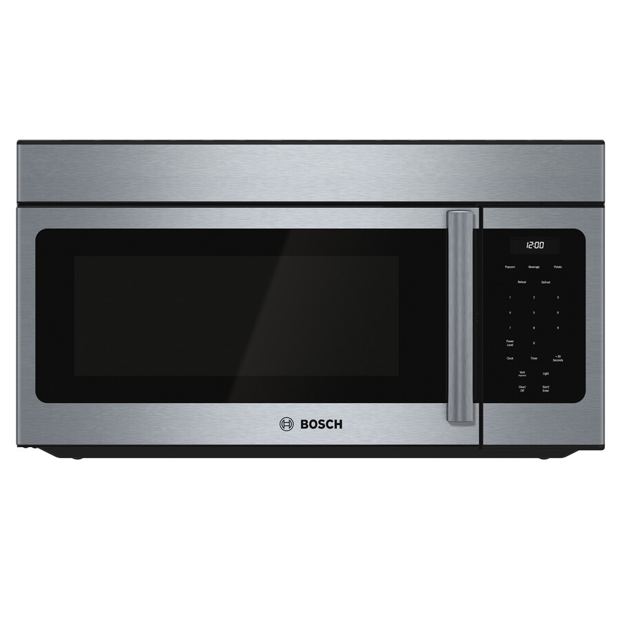 Bosch 300 Series 1.6-cu ft Over-The-Range Microwave (Stainless Steel) (Common: 30-in; Actual: 29.875-in)