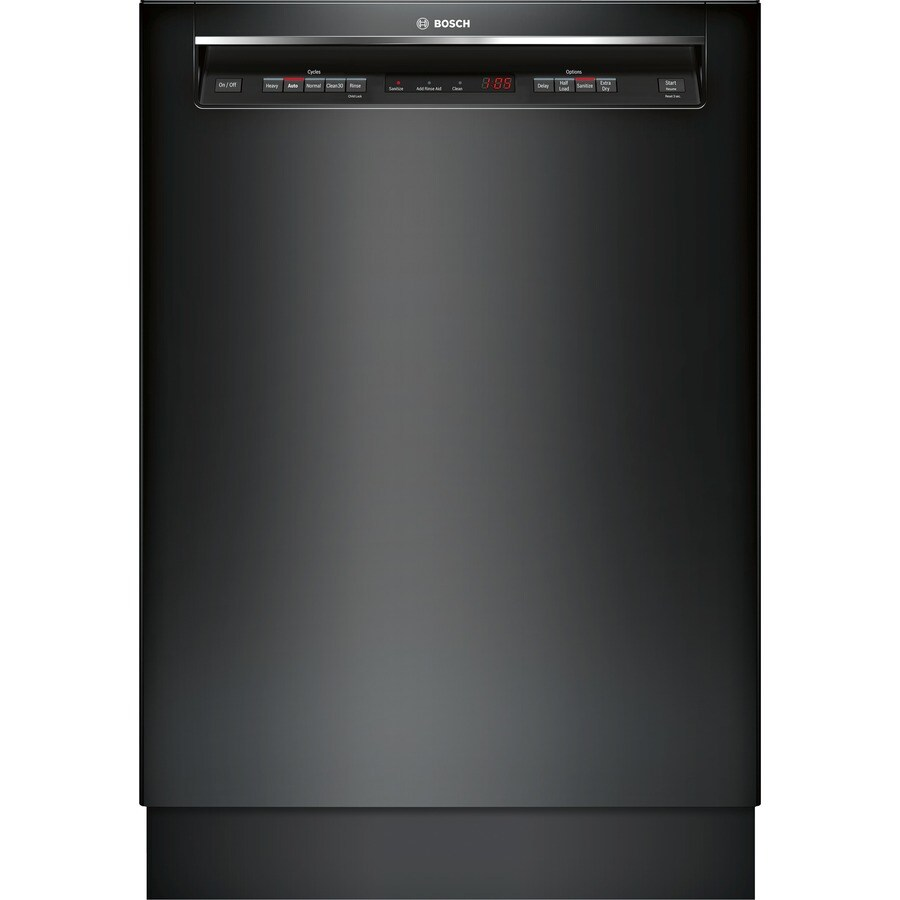 Bosch 300 Series 44 Decibel Built In Dishwasher (Black) (Common: 24 In; Actual: 23.5625 In) Energy Star by Lowe's