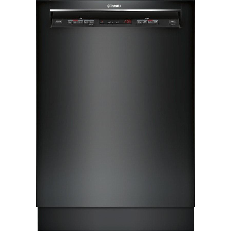 Bosch 300 Series 44-Decibel Built-In Dishwasher (Black) (Common: 24-in; Actual: 23.5625-in) ENERGY STAR