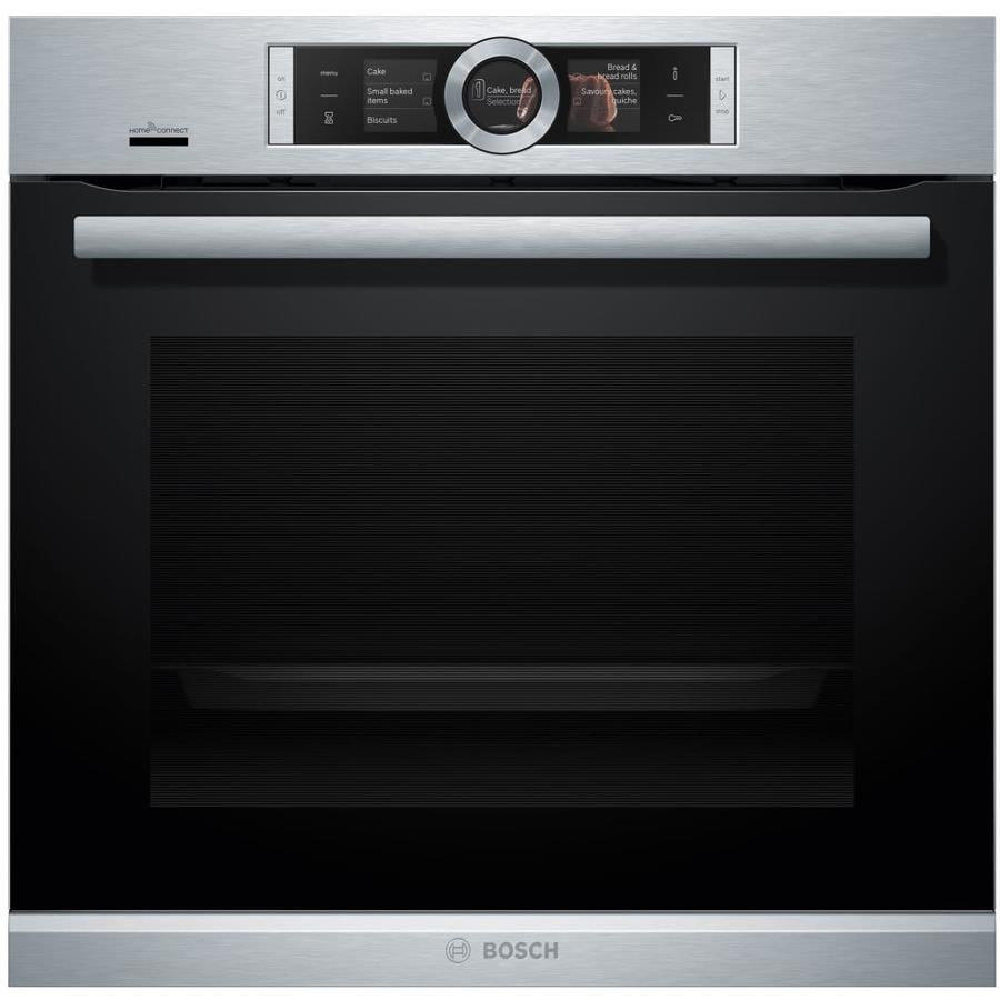 Bosch Home Connect 500 Series Self-cleaning Convection Single Electric Wall Oven (Stainless Steel) (Common: 24-in; Actual 23.438-in)