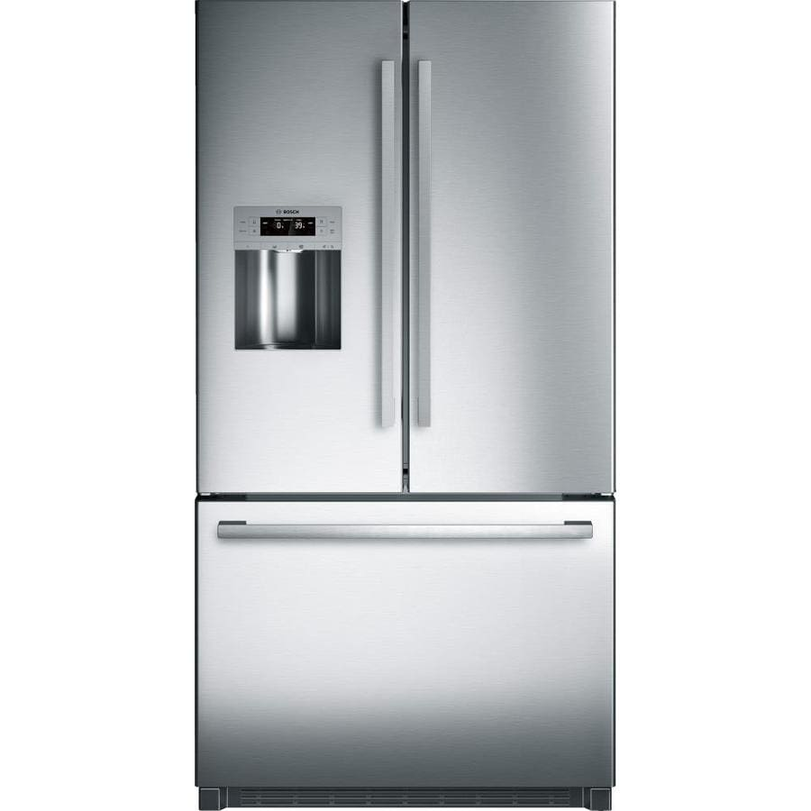 Bosch 800 Series 25-cu ft  French Door Refrigerator with Ice Maker (Fingerprint-Resistant Stainless Steel) ENERGY STAR