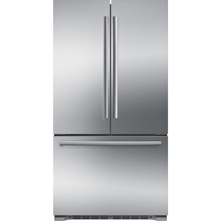 Elegant Bosch 800 Series 20.7 Cu Ft Counter Depth French Door Refrigerator With Ice  Maker