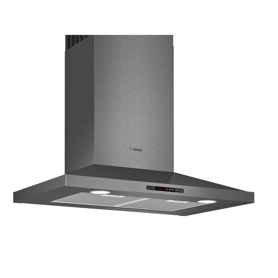 Bosch Convertible Wall Mounted Range Hood Black Stainless Steel Common 30