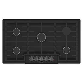 Bosch 800 5 Burner Gas Cooktop Black Stainless Steel Common 36