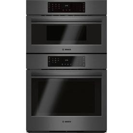 Bosch Self Cleaning Convection Microwave Wall Oven Combo Black Stainless Steel Common