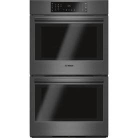 Bosch 800 Series Self Cleaning True Convection Double Electric Wall Oven Fingerprint Resistant