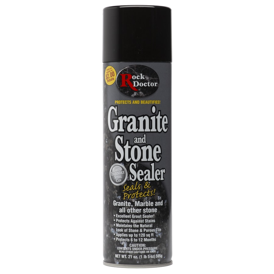 granite countertop sealer lowes shop rock doctor 21 fl oz granite sealer at lowes 760