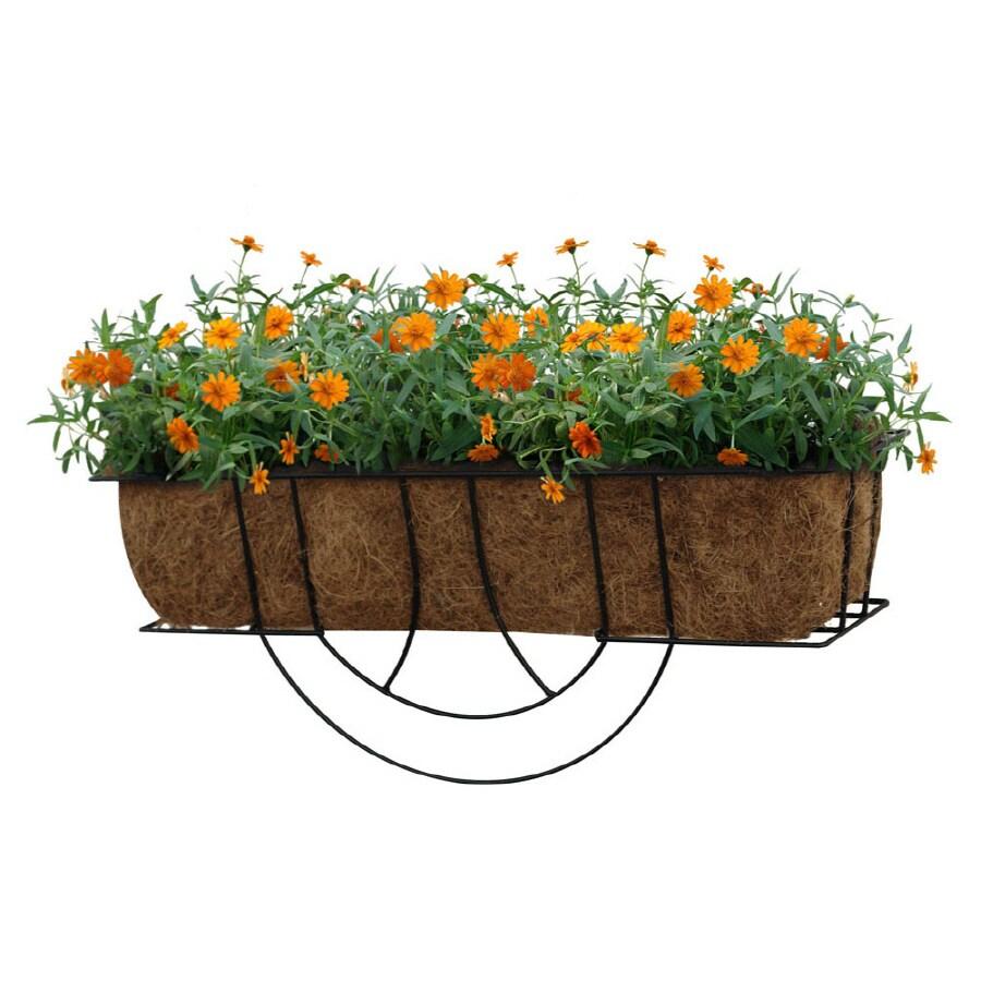 "Garden Treasures 9-1/2""H x 24""W x 6-1/2""D Wire Window Box"