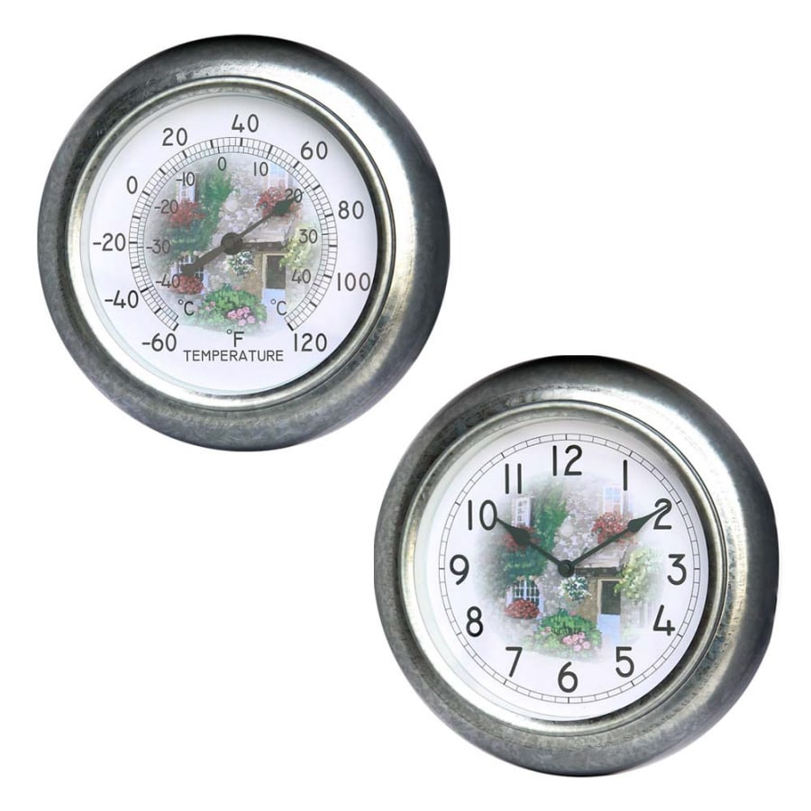 Garden Treasures Weather Wireless Clock with Thermometer