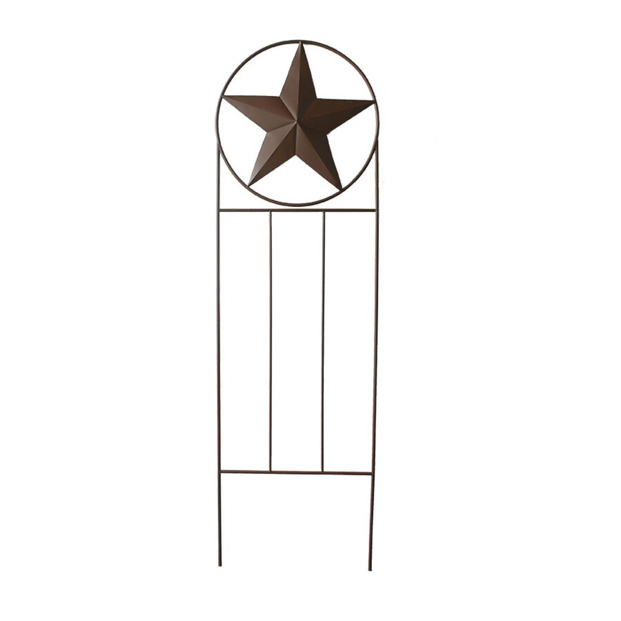 Garden Treasures 24-in W x 79-in H Powder-Coated Star Design Garden Trellis