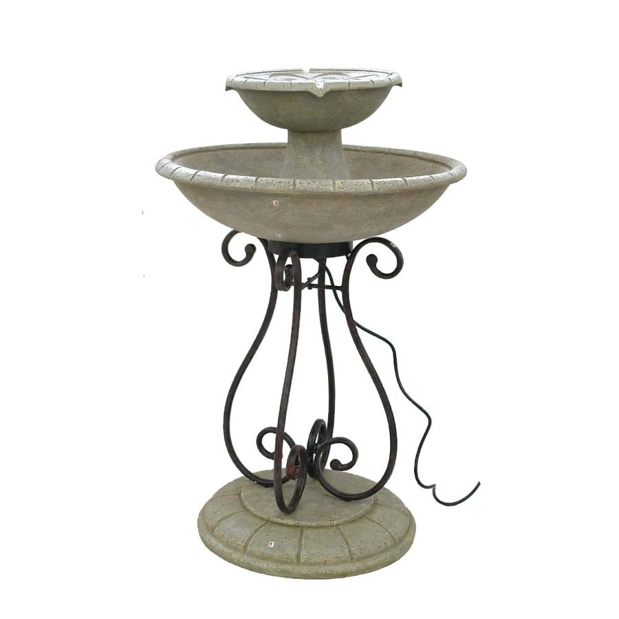 Garden Treasures Scroll 2-Tier Fountain