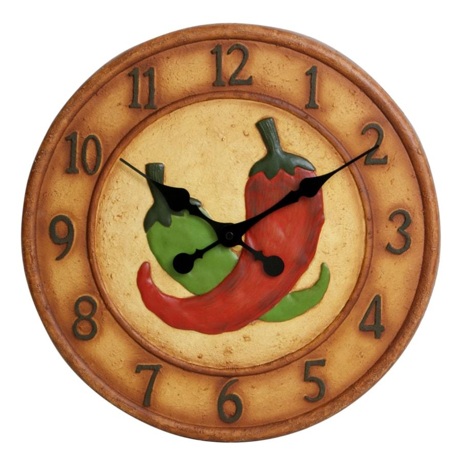 Garden Treasures 14-in Dia Chili Pepper Clock