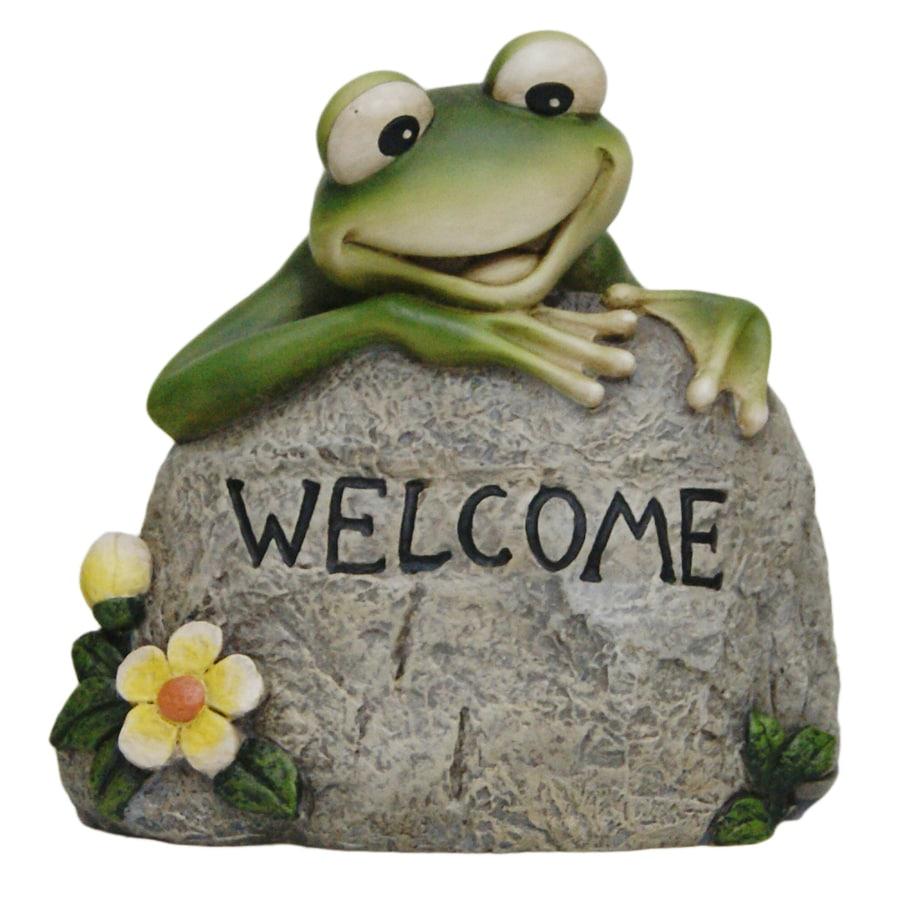 Welcome Frog On Rock Key Hide