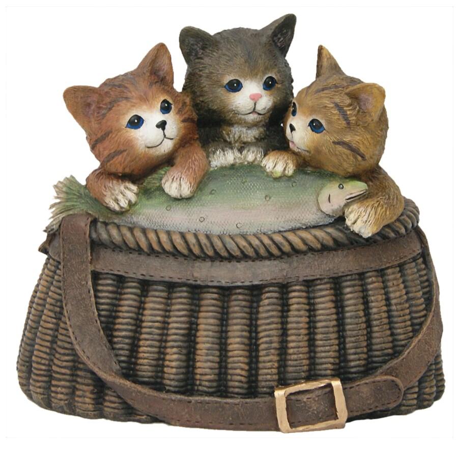 9.25-in H Kitten Garden Statue