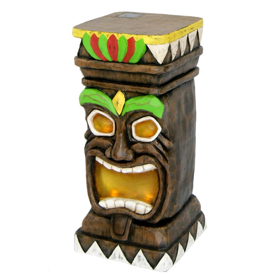 Garden Treasures 20.5 In Tiki Garden Statue