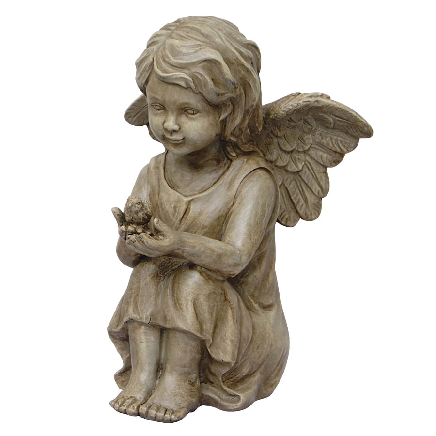 Garden Treasures 11.5 In Cherub Garden Statue