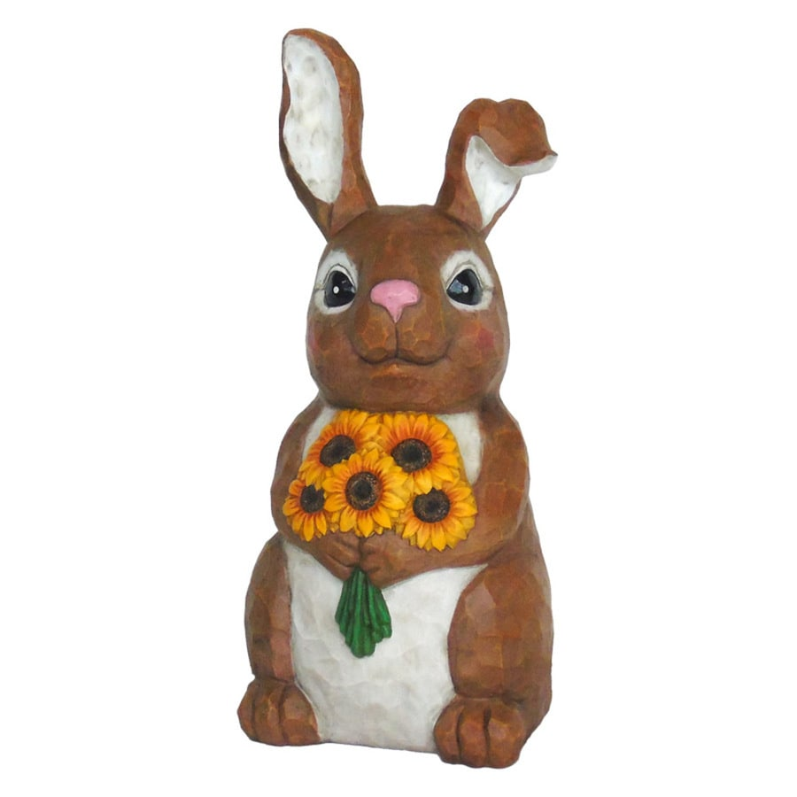Garden Treasures 13.25-in Rabbit Garden Statue