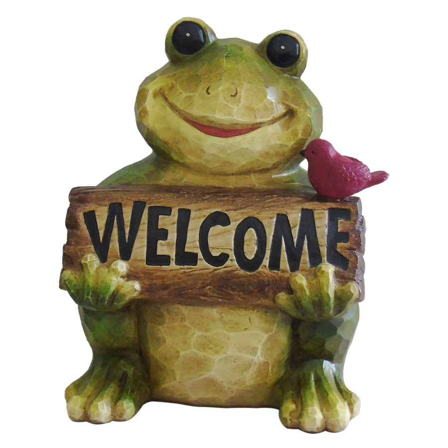 Garden Treasures 11.5-in Frog Garden Statue