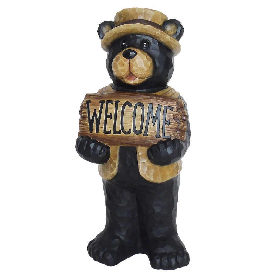 Garden Treasures 22.5 In Bear Garden Statue