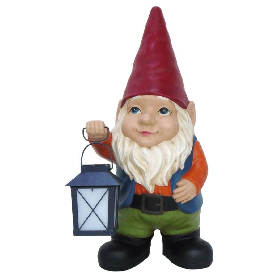 Gnome In Garden: Garden Treasures 20-in Gnome Garden Statue At Lowes.com