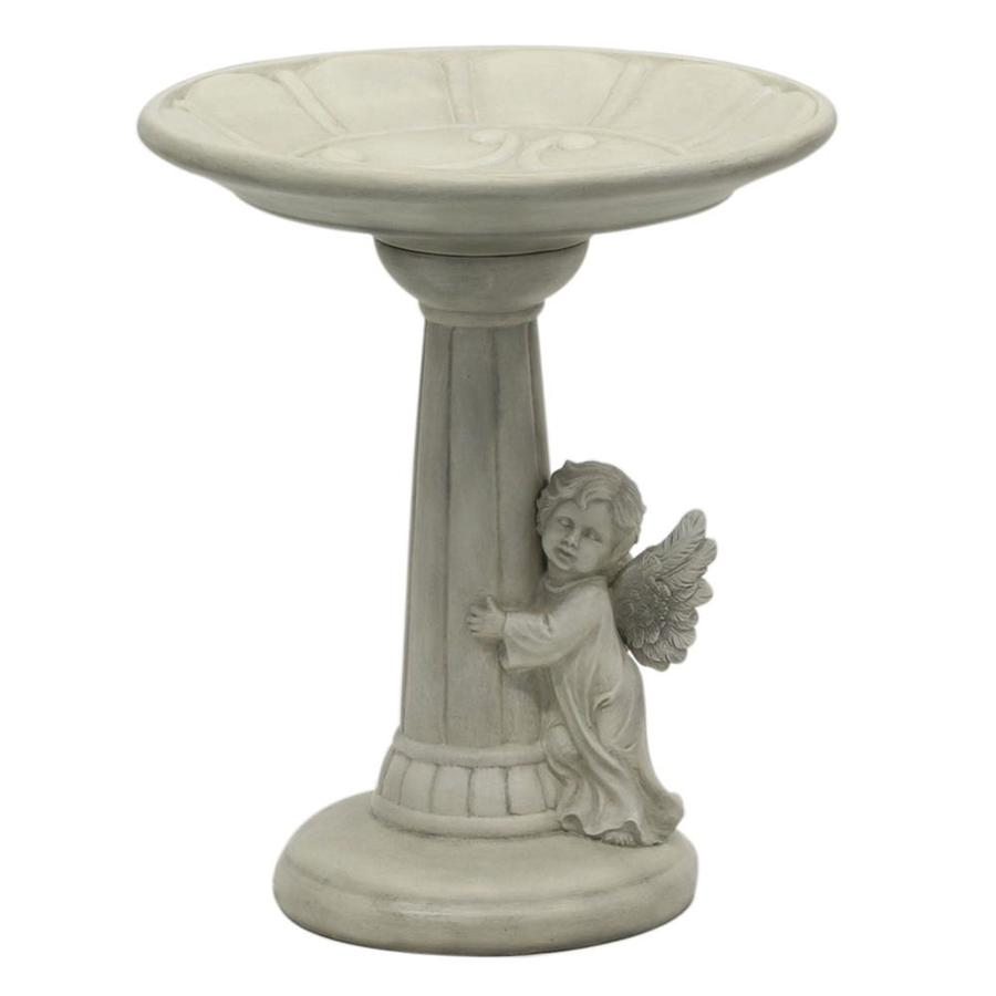Garden Treasures 20 In H 1 Tier Round Resin Birdbath