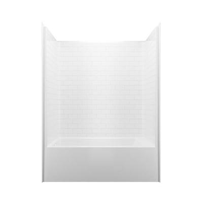 Laurel Mountain Luray White 1 Piece Bathtub Shower Kit Common 60