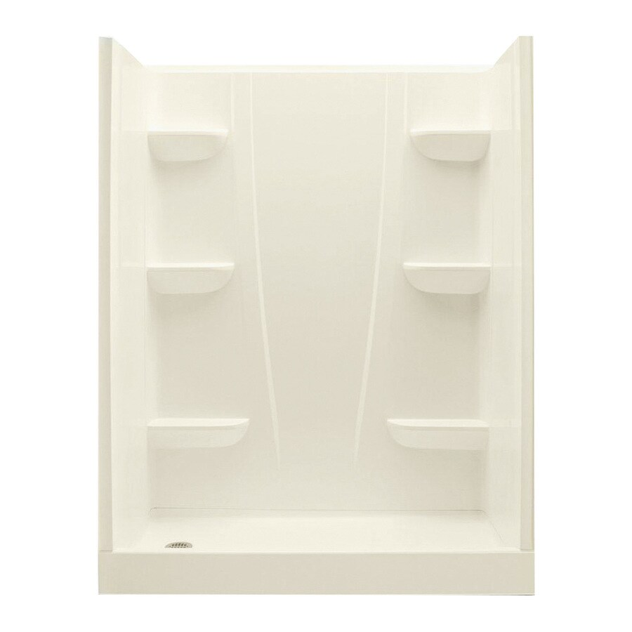 Shop A2 Biscuit Fiberglass and Plastic composite Wall 4-Piece Alcove ...