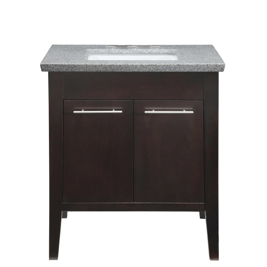 Bathroom Vanity 30 X 21 shop allen + roth contemporary espresso undermount single sink