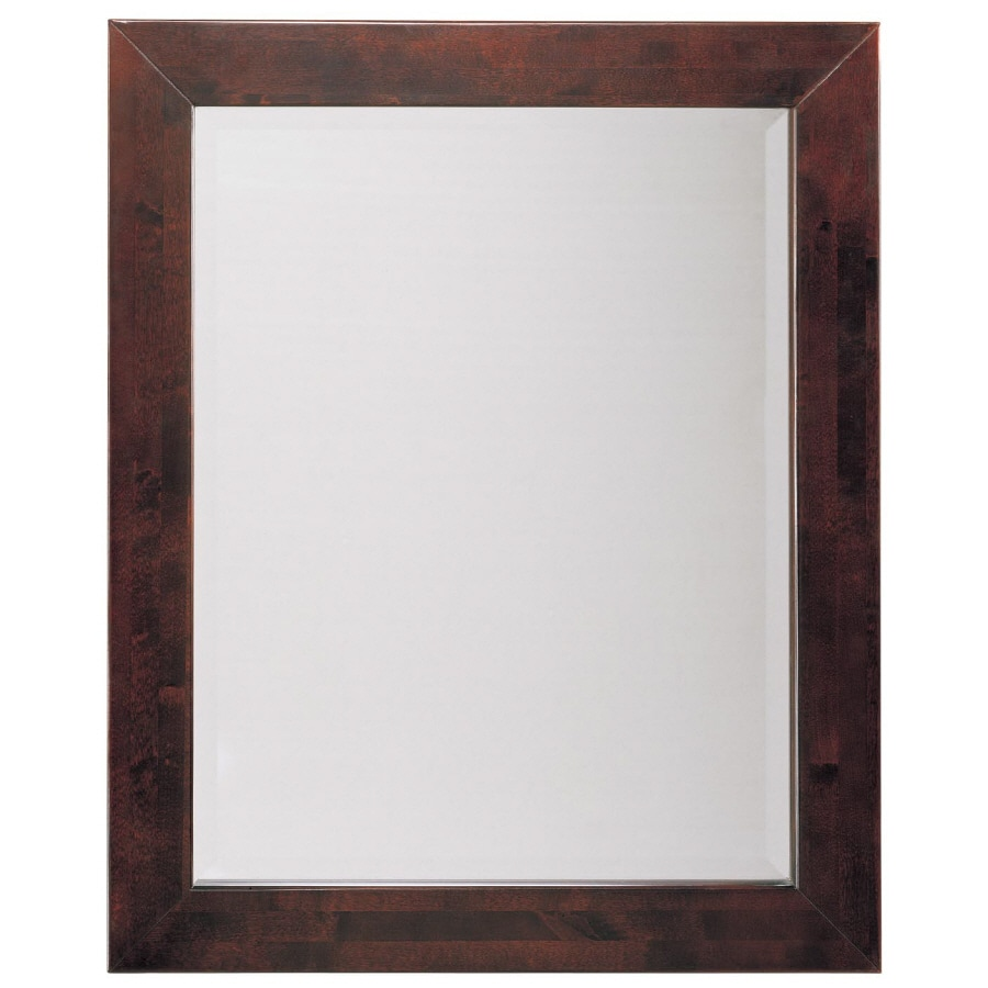 Allen Roth In Espresso Rectangular Bathroom Mirror