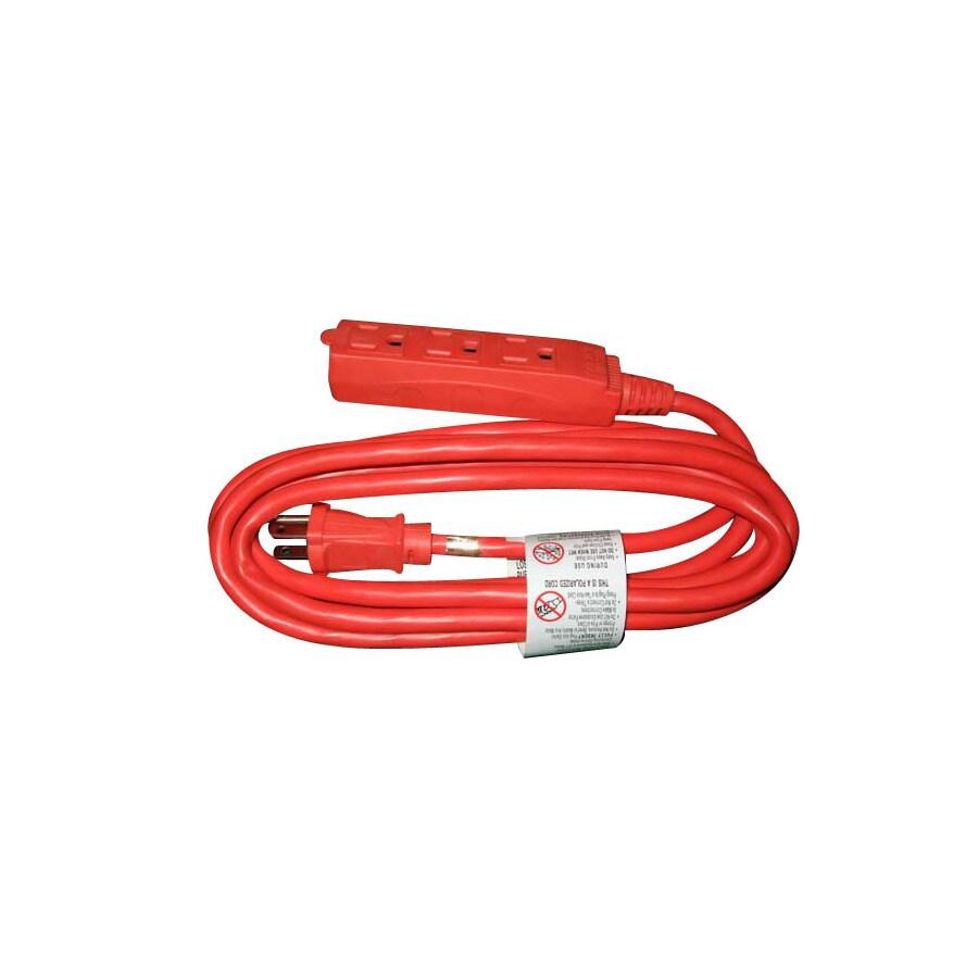 Shop Utilitech 9\' 3-Outlet 14-Gauge Indoor Extension Cord at Lowes.com
