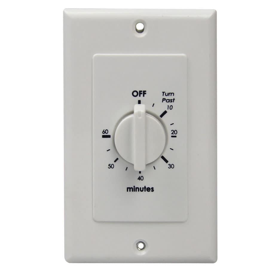 Utilitech 15-Amp Mechanical Residential Hardwired Countdown Lighting Timer  sc 1 st  Loweu0027s & Shop Utilitech 15-Amp Mechanical Residential Hardwired Countdown ...