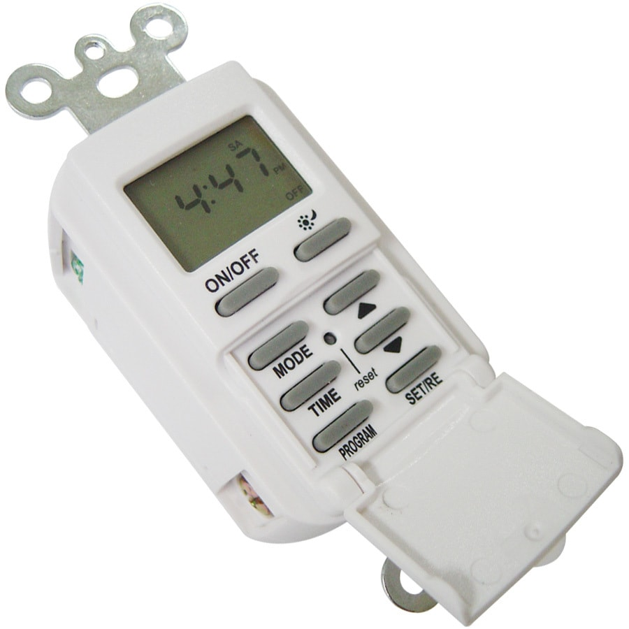 Utilitech 15-Amp Digital Residential Countdown Function Lighting Timer  sc 1 st  Loweu0027s : utilitech lighting parts - azcodes.com