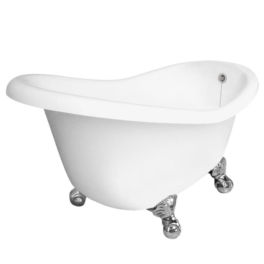 American Bath Factory Ascot Acrylic Round Clawfoot Bathtub with Reversible Drain (Common: 32.5-in x 60-in; Actual: 30-in x 32.5-in x 60-in)