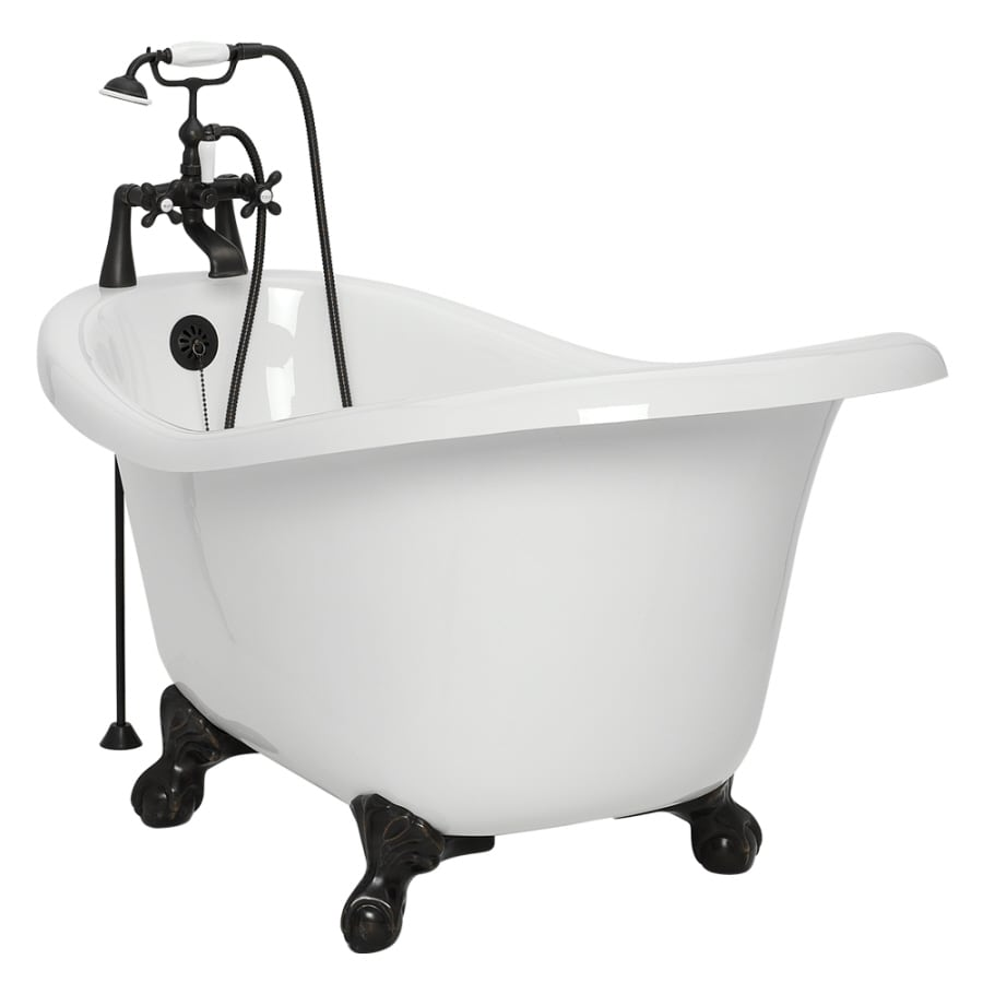 Shop American Bath Factory Ascot 60-in White Acrylic Clawfoot ...