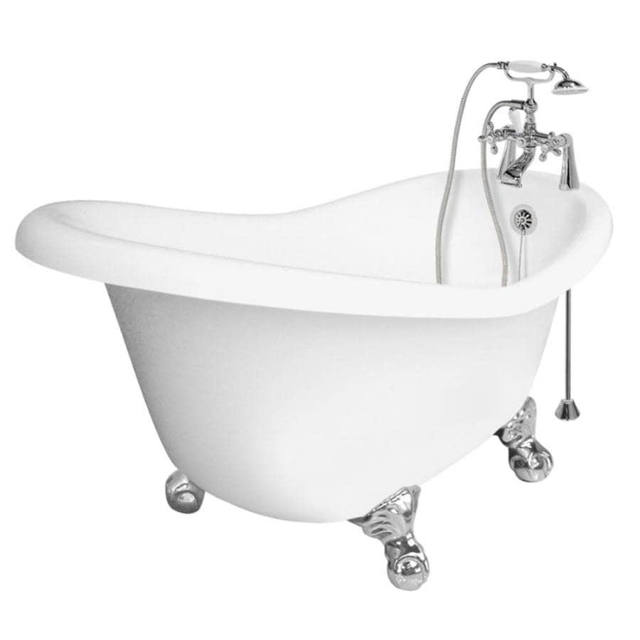Shop American Bath Factory Marilyn 67-in White Acrylic Clawfoot ...