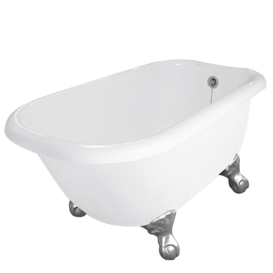 shop american bath factory jester 54 in white acrylic clawfoot bathtub with reversible drain at. Black Bedroom Furniture Sets. Home Design Ideas