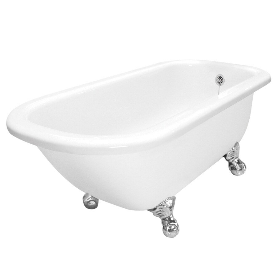 shop american bath factory maverick 67 in white acrylic clawfoot bathtub with reversible drain. Black Bedroom Furniture Sets. Home Design Ideas