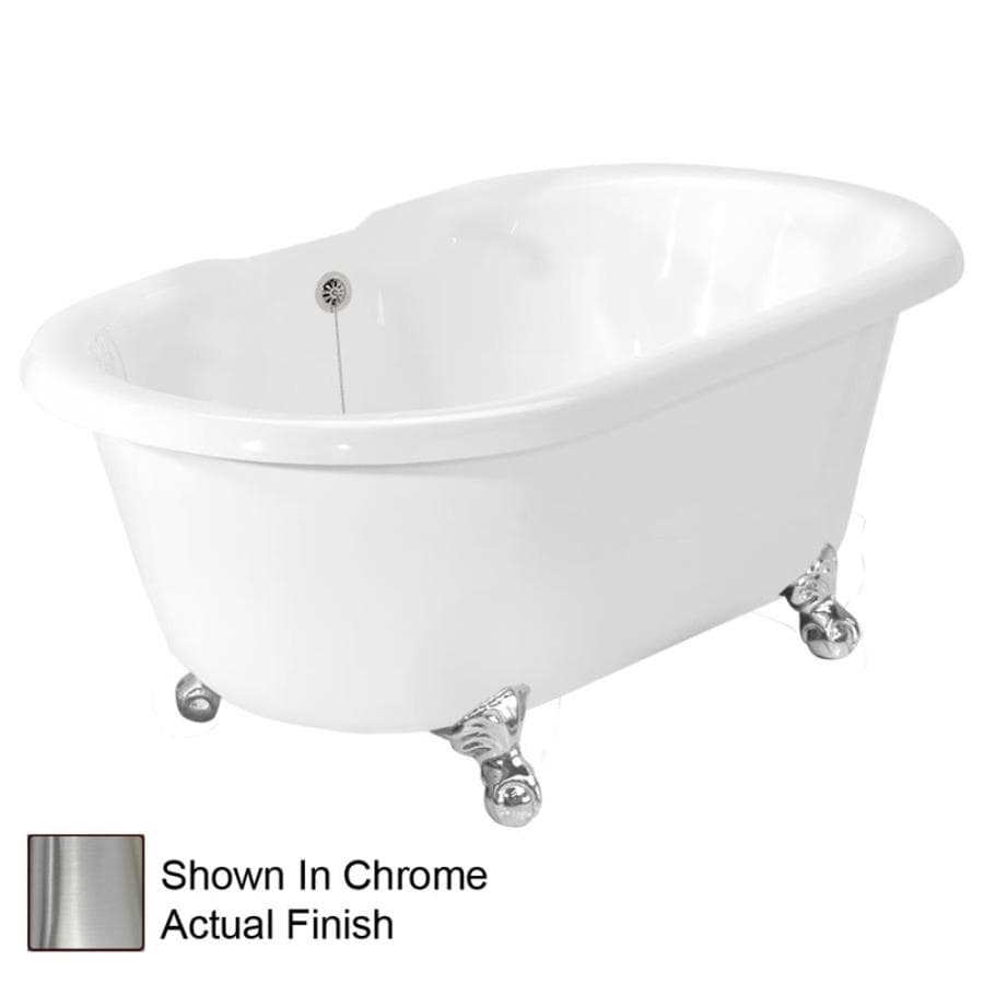 shop american bath factory 70 in white acrylic clawfoot bathtub with back center drain at. Black Bedroom Furniture Sets. Home Design Ideas