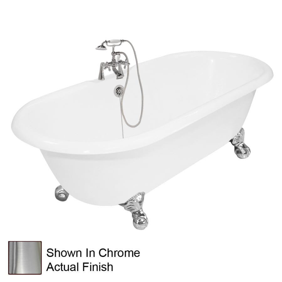 American Bath Factory Winston Cast Iron Round Clawfoot Bathtub with Reversible Drain (Common: 31-in x 67-in; Actual: 24-in x 31.5-in x 67-in)