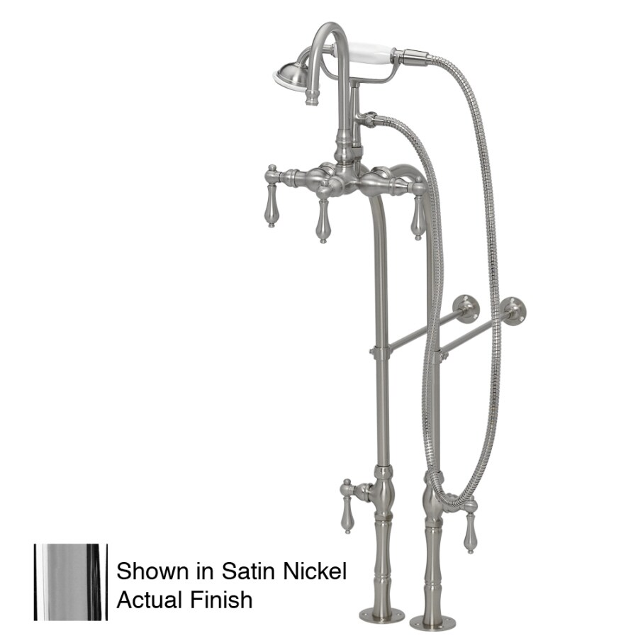 American Bath Factory F200 Series Chrome 3-Handle Bathtub and Shower Faucet Trim Kit with Handheld Showerhead