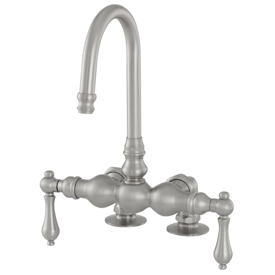 American Bath Factory F300 A Satin Nickel 2-handle Fixed Deck Mount Commercial Bathtub Faucet