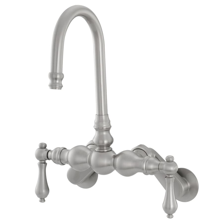 American Bath Factory F300 B Satin Nickel 2-handle Adjustable Wall Mount Commercial Bathtub Faucet