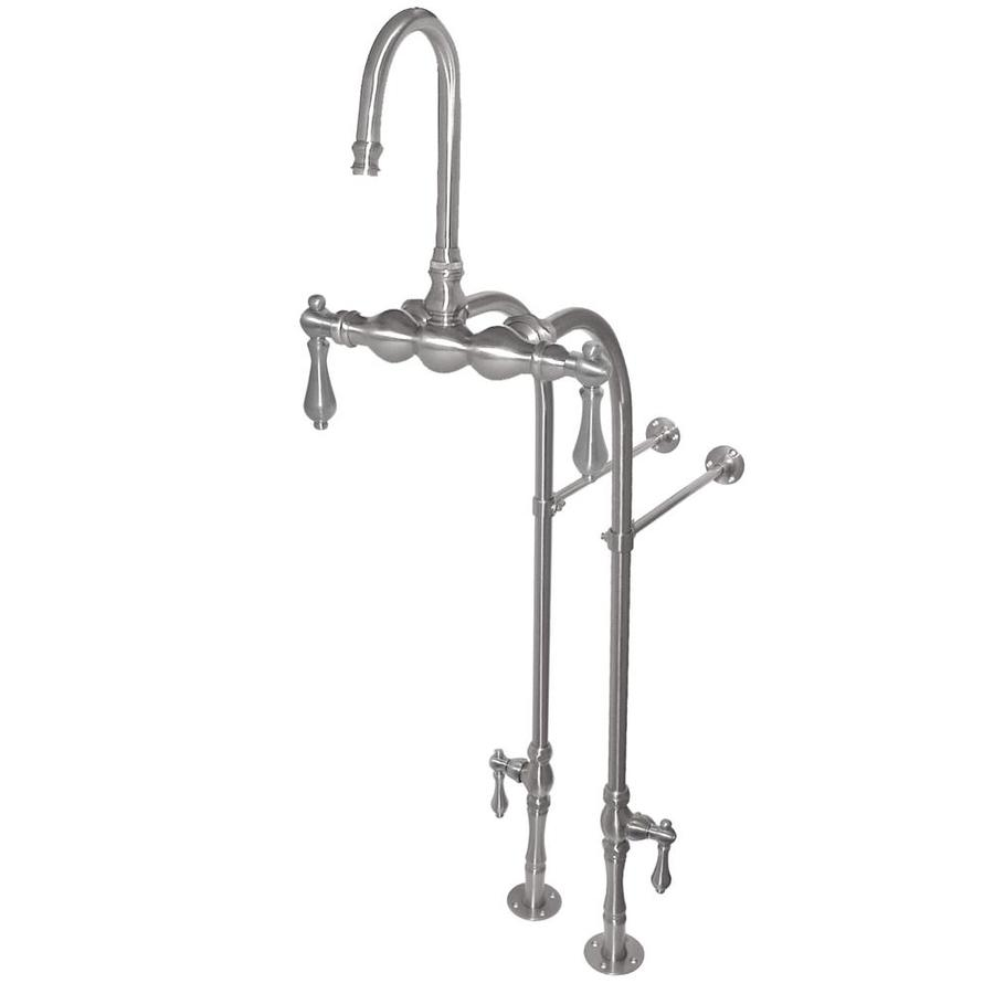 American Bath Factory F300 Satin Nickel 2-Handle Fixed Freestanding/Wall Mount Bathtub Faucet