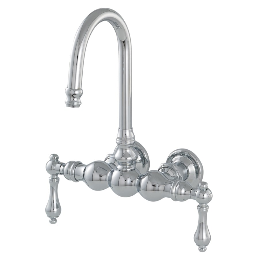 American Bath Factory F300 Chrome 2-Handle Fixed Wall Mount Bathtub Faucet