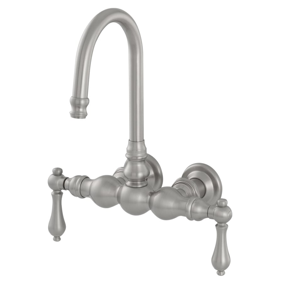 American Bath Factory F300 D Satin Nickel 2-handle Fixed Wall Mount Commercial Bathtub Faucet