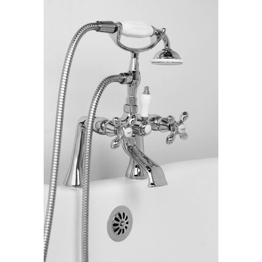 American Bath Factory F90 series Chrome 2-Handle Fixed Deck Mount Bathtub Faucet